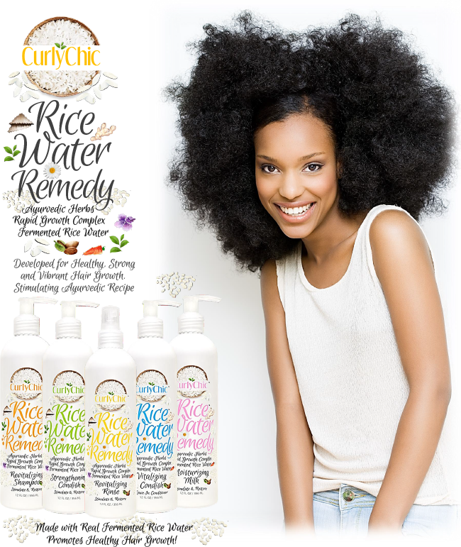 Rice Water Remedy from Curly Chic Hair Care